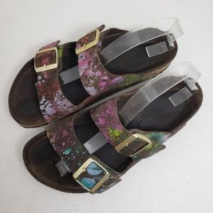 Birkenstock Arizona Flower Crush Open Toe Sandals